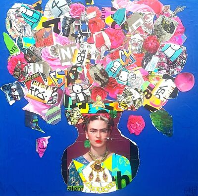 Helen Gørrill, 'Murakami Flowers in Frida Kahlo Vase with Colt M1911', 2017