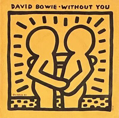 Keith Haring, 'Rare Original Keith Haring Vinyl Record Art (David Bowie)', 1983