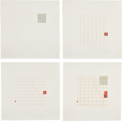 Robert Ryman, 'Etching in Four Parts', 1972