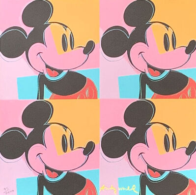 Andy Warhol, 'Quadrant Mickey Mouse', 1986