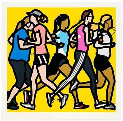 Julian Opie, 'Runners, Running Women', 2016