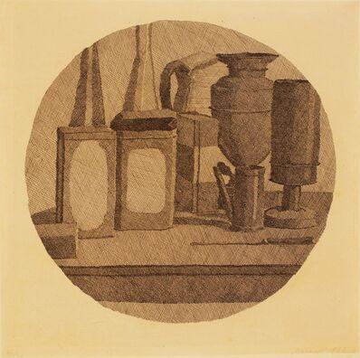 Giorgio Morandi, 'Grande natura morta circolare con undici oggetti in un tondo', 1942