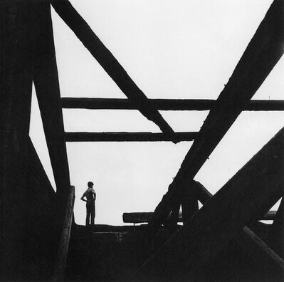 George Tice, 'Boy on East River Pier'