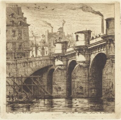 Charles Meryon, 'Le Pont Neuf, Paris', 1853
