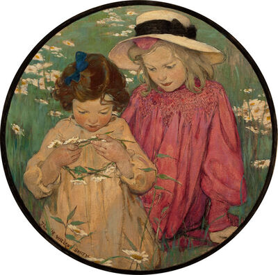 JESSIE WILLCOX SMITH, 'The Daisy Wreath', 1903