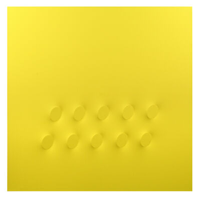 Turi Simeti, '10 ovali gialli', 2017
