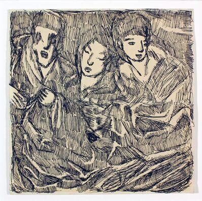 Louis Soutter, 'Trois Ames ', nd