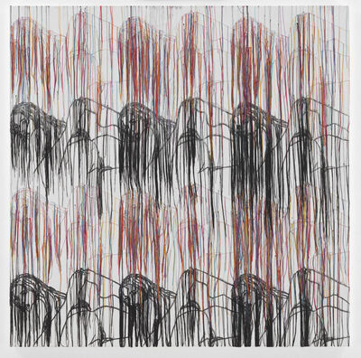 Ghada Amer, 'Landscape with Black Mountains - RFGA', 2017