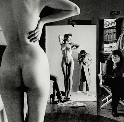 Helmut Newton, 'Self Portrait with Wife and Model', 1981