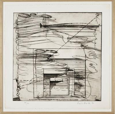 Dieter Roth, 'Selfportrait as Horizon Animal', 1973