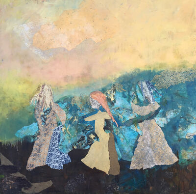 Cynthia Packard, 'Three Sisters, Countryside'