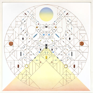 Leonardo Ulian, ' Technological Mandala 105 - Mountain solstice', 2017