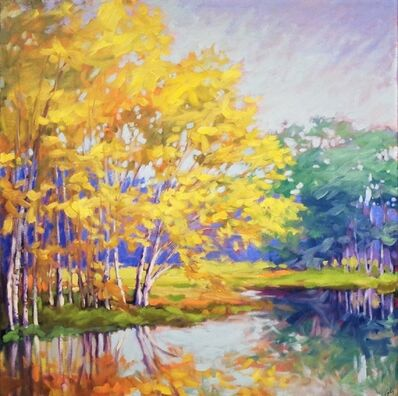 Margaret Gerding, 'River Birches', 2018