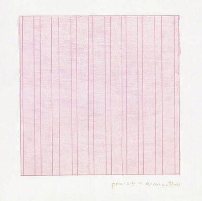 Agnes Martin, 'Praise', 1976