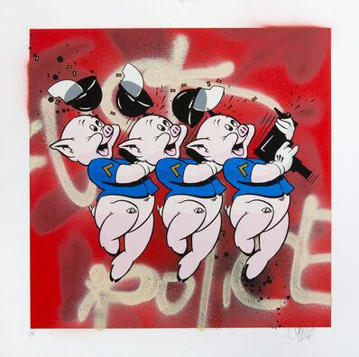 OG Slick, '3 Lil Pigs (Red)', 2015