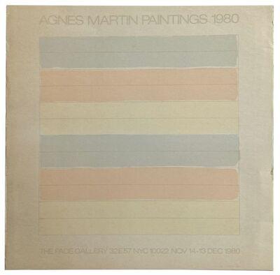 Agnes Martin, 'Agnes Martin Paintings 1980', 1980