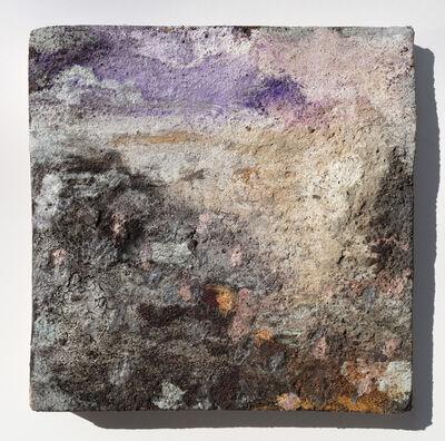 Orazio De Gennaro, 'Terra Bruciata (Scorched Earth) #3 - Small abstract purple and black painting', 2017