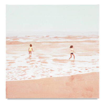 Isca Greenfield-Sanders, 'Two Bathers (Pink)', 2017