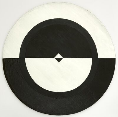 Carmen Herrera, 'Tondo: Black and White II', 1959