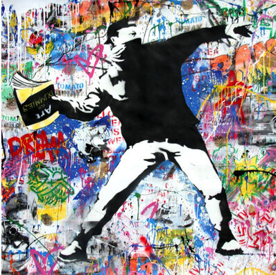 Mr. Brainwash, 'Banksy Thrower', 2018