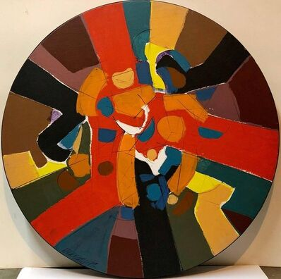 Paul Maxwell, 'Large Mid Century Modern Abstract Round Painting', 1977