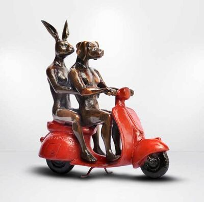 Gillie and Marc Schattner, 'They rode the red vespa and romance followed'