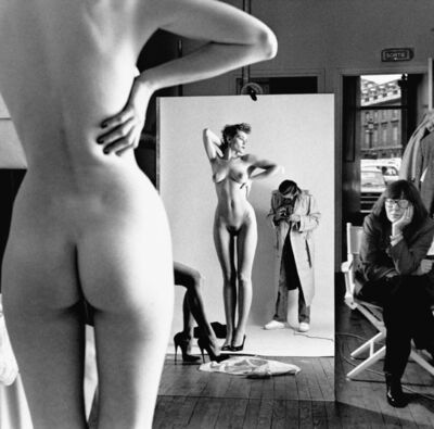 Helmut Newton, 'Self Portrait with Wife and Models', 1981