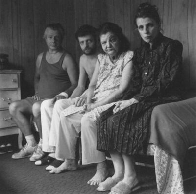 Allen Ginsberg, 'Peter Orlovsky with mother and twin siblings', 1987