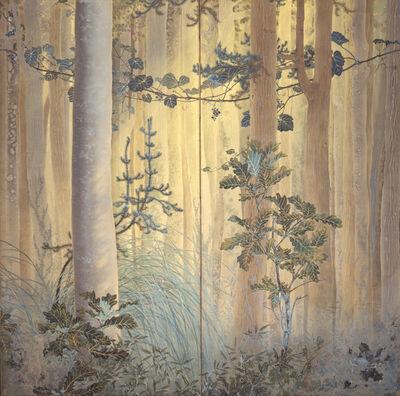 Shimomura Kanzan, 'Autumn Among Trees', 1907