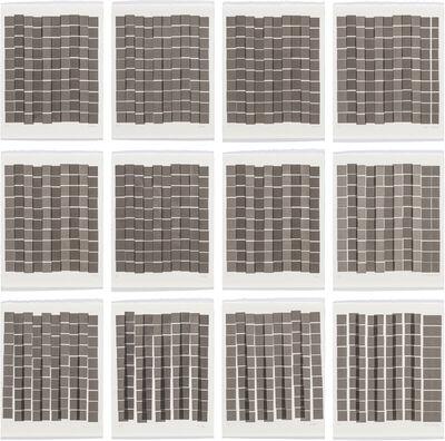 Vera Molnar, '100 Squares I-XII', 1987