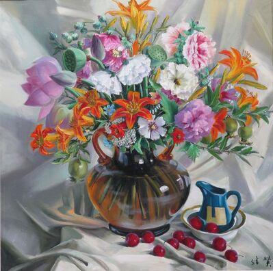Zhang Shengzan 张胜赞, 'In full bloom', 2016