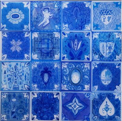 Kirsten Hassenfeld, 'Blueware Drawing (Tiles)', 2009