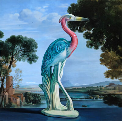 Sherrie Wolf, 'Heron with Claude Landscape', 2019