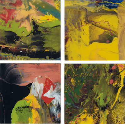 Gerhard Richter, 'Four works: (i) Flow (P4); (ii) Flow (P5); (iii) Flow (P6); (iv) Flow (P7)', 2014