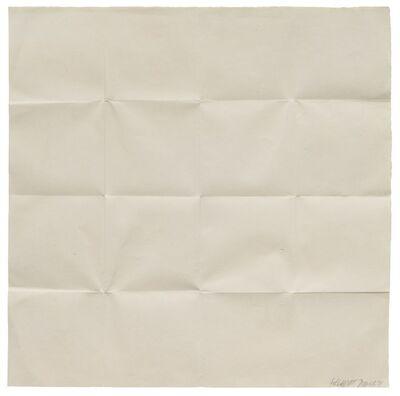 Sol LeWitt, 'Fold Piece, Sixteen Squares', 1972