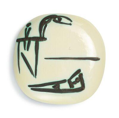 Pablo Picasso, 'Madoura Ceramic Plate -Plongeurs, Ramié 377', 1950-1959