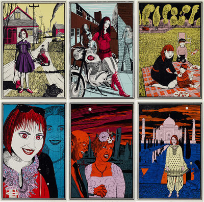 Grayson Perry, 'Six Snapshots of Julie', 2015