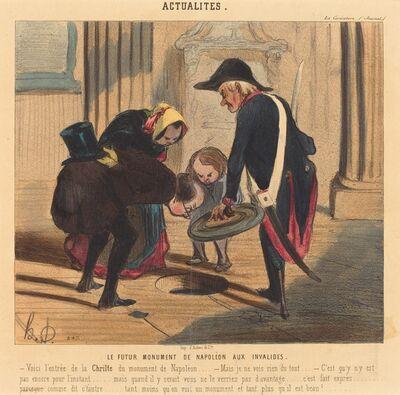 Honoré Daumier, 'Le Futur monument de Napoléon aux Invalides', 1842