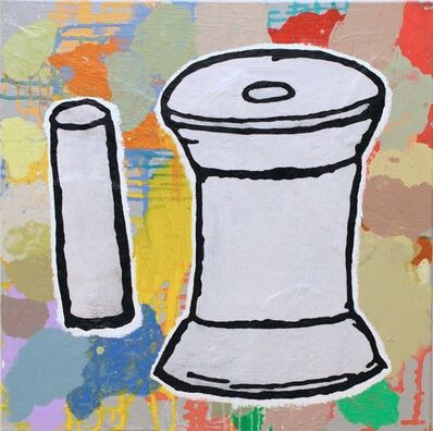 Donald Baechler, 'Spool and Cylinder', 2020