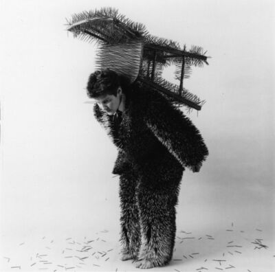 Ann Hamilton, 'body object series #13 - toothpick suit/chair', 1984