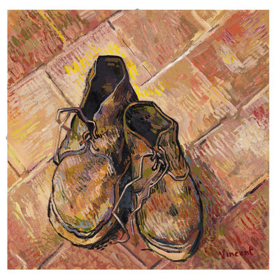 John Myatt, 'A Pair Of Old Shoes 1888 (In The Style Of Vincent Van Gogh)', 2018