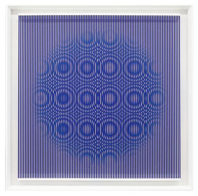 Alberto Biasi, 'Blue rain', 1997