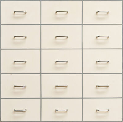 William Tillyer, 'Fifteen Drawer Pulls', 1966