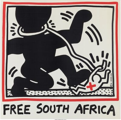 Keith Haring, 'Free South Africa', 1985