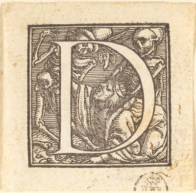 Hans Holbein the Younger, 'Letter D'