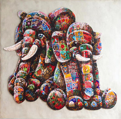 Louis Masai, 'Elephunkt in the wild', 2019