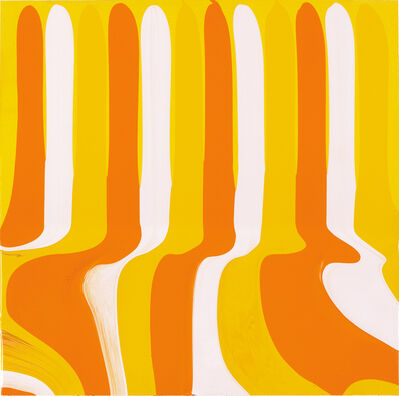 Ian Davenport, 'Puddle Painting Yellows', 2011
