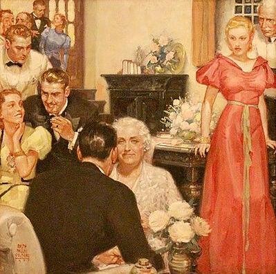 Ralph Pallen Colemen, 'Party Scene', 1937