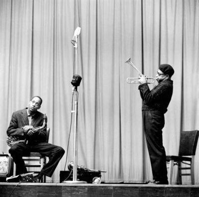 Herman Leonard, 'Dizzy Gillespie, Sonny Stilt, New York', 1953