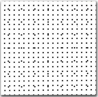 François Morellet, 'Tous les 4 tous les 11', 1974